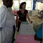HVO Volunteer with Mulago Hospital staff - Kampala, Uganda