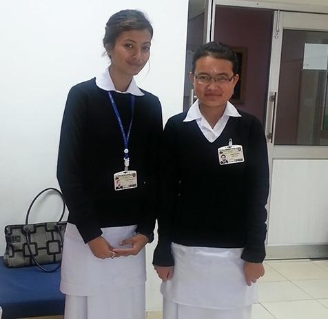 Student Nurses in Bhutan